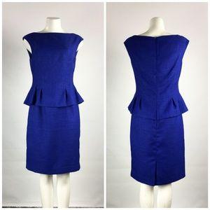 Ralph Lauren Blue Peplum Dress Size M